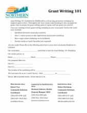 Grant Writing Request Form